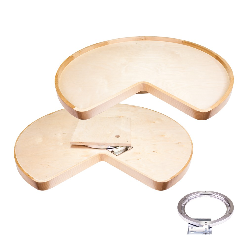 "Kidney shaped 28"" or 32"" lazy susan with swivel"
