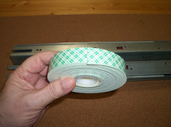 "13/16"" wide double stick foam tape"