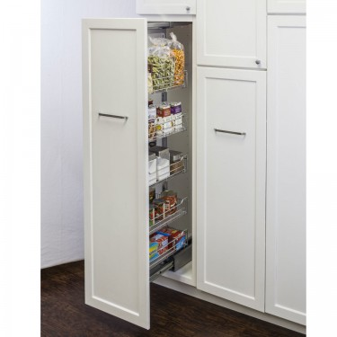 15 Quot Chrome Wire Pantry Pullout Shelving 1563sc