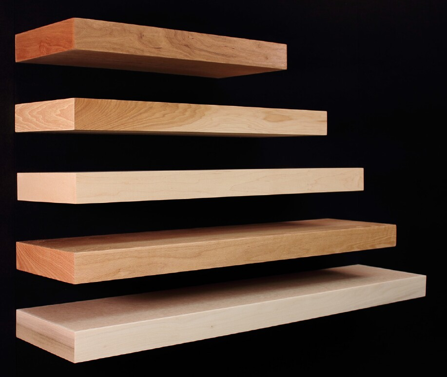 Unfinished Wall Shelves Wood