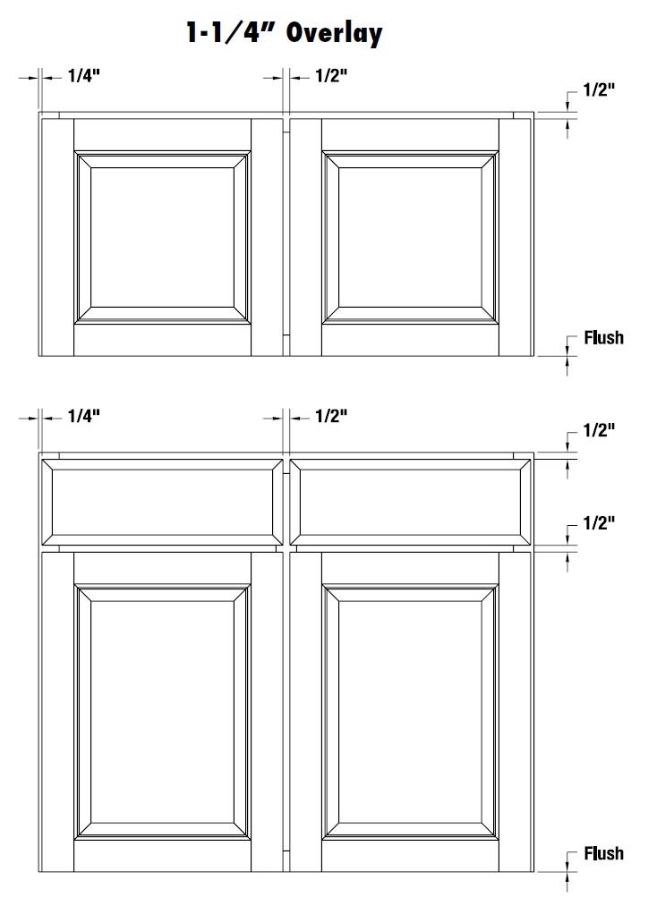 Cabinet Door Overlay Information Quikdrawers 1 Cabinet And