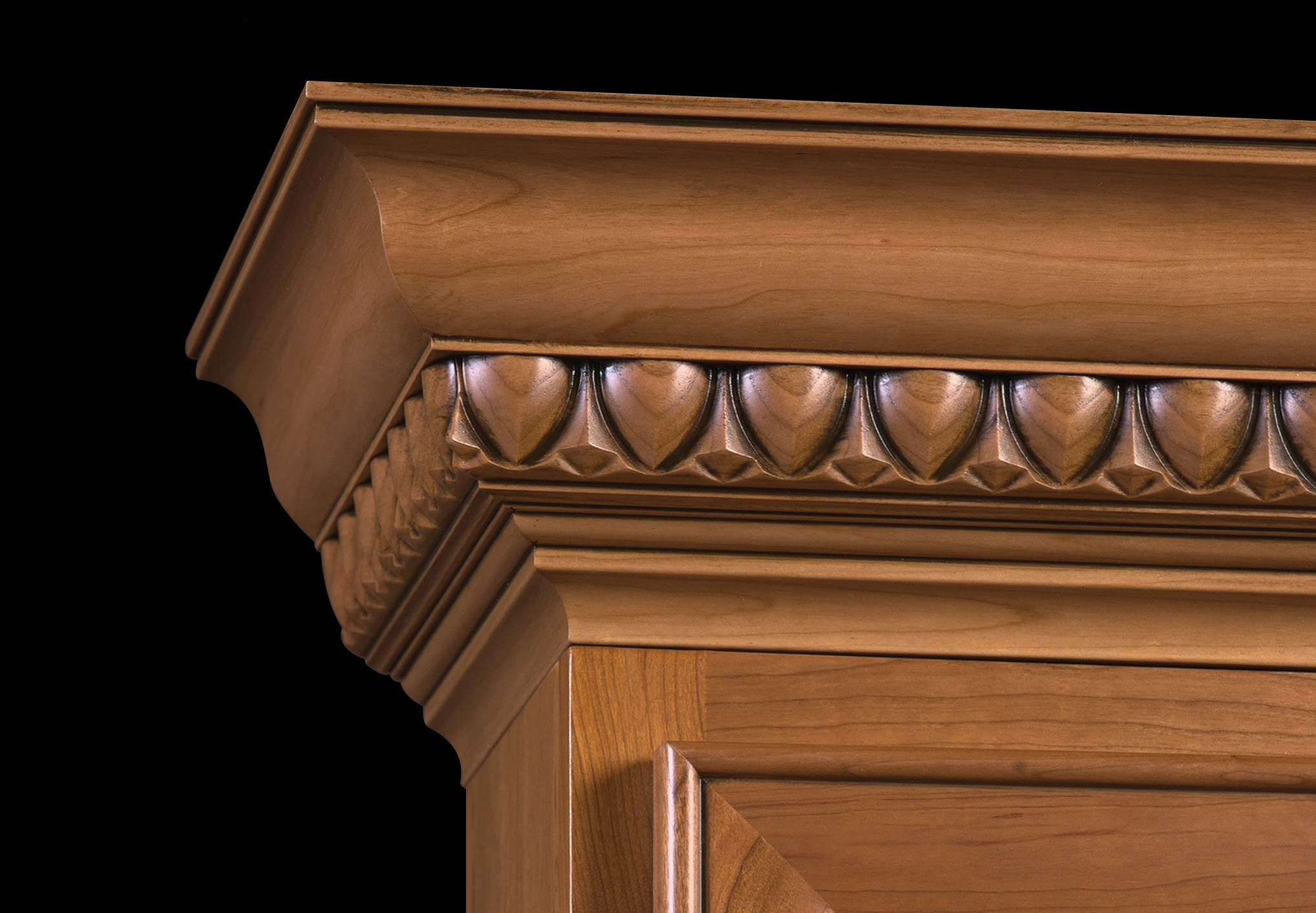 Under cabinet light rail molding - Finished Egg And Dart Moulding