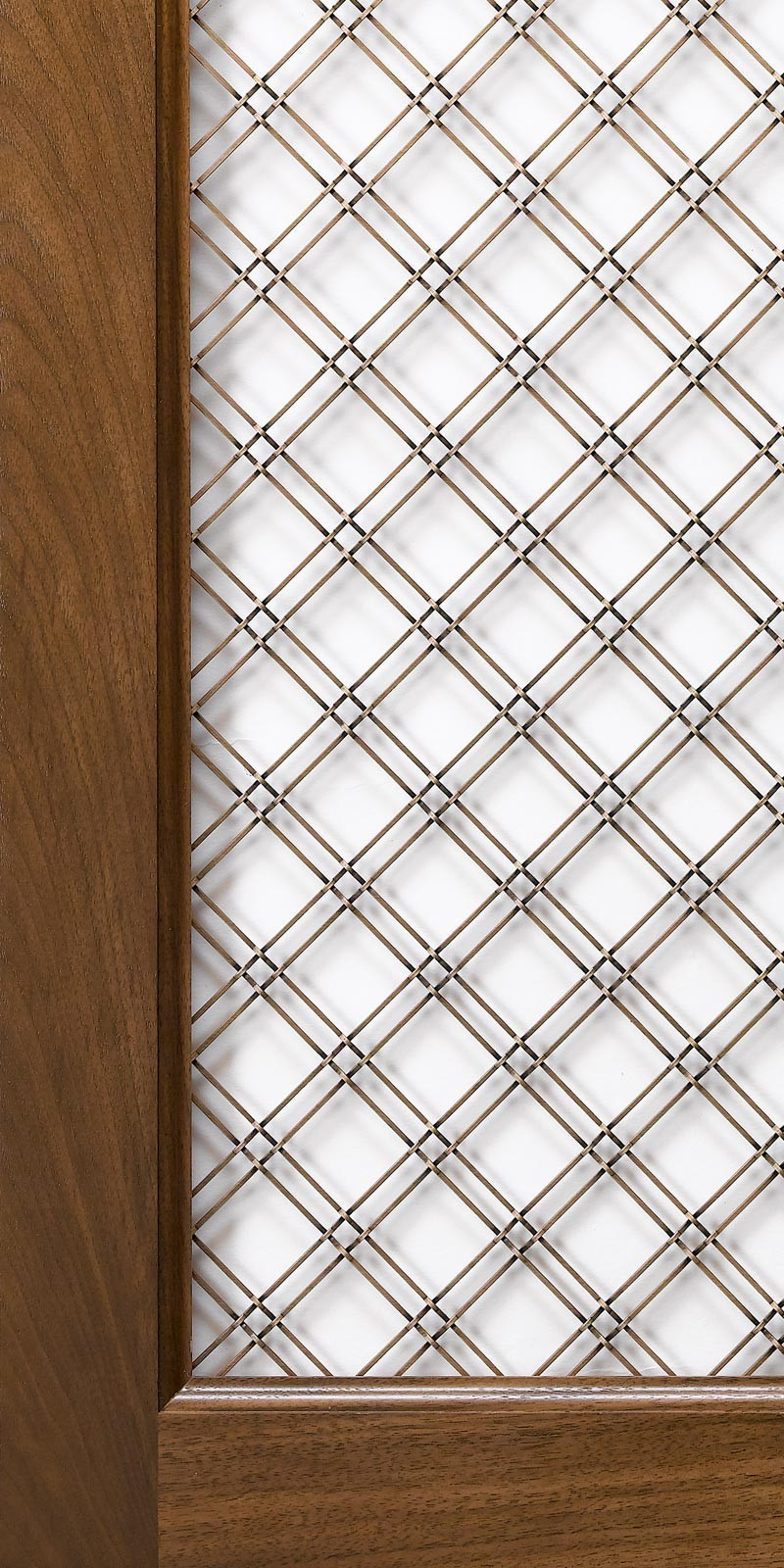 Brass Wire Grille : Wire grille insert for mullion cabinet doors