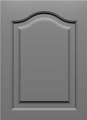 Square Corner 20SQ3 Cathedral Arch Style MDF Door