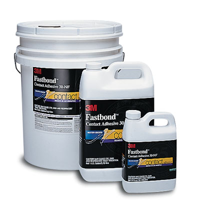 3M Fastbond is available in quarts, gallons and 5 gallon pails