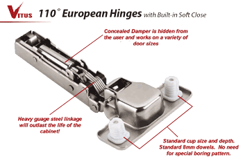 Concealed Soft Close Cabinet Hinge
