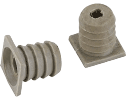 8mm Plastic dowels for concealed hinges
