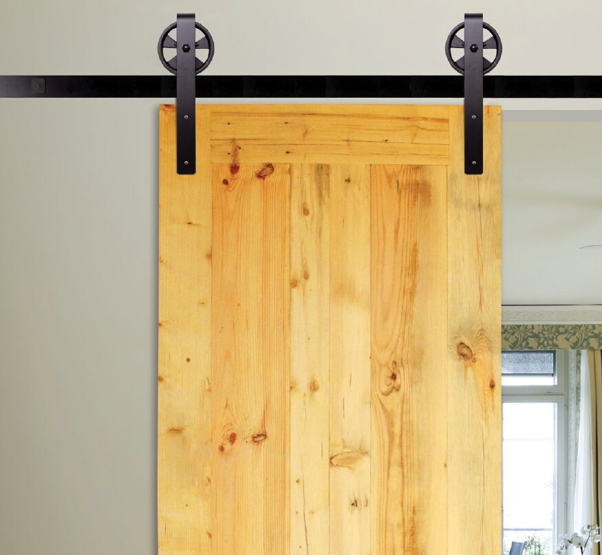 Hanging or sliding door hardware by kv quikdrawers 1 for Hanging a sliding barn door