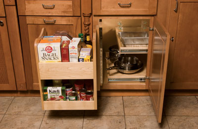 Blind Corner Swing Out Storage Caddy : blind cabinet storage - Cheerinfomania.Com