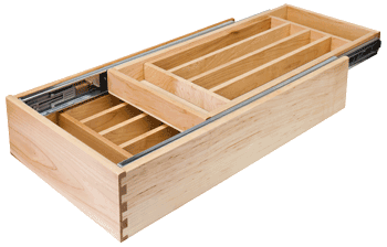 HR nested, two tier storage drawer