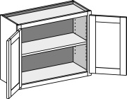 Standard Double Door Wall Cabinet with Butt Doors