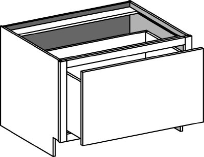 Typical 1 drawer base cabinet