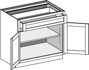 Typical Base Cabinet 1 drawer w/butt doors