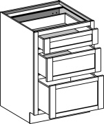 Typical 3 drawer bank