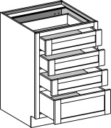 Typical 4 drawer bank