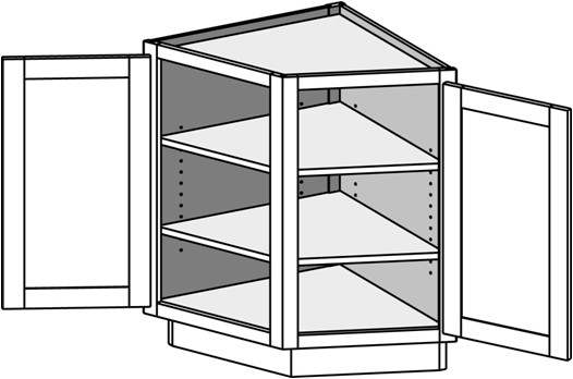 Typical Base Angle End Cabinet