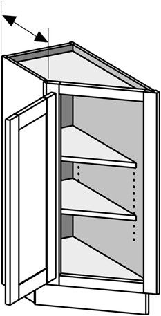 Typical Base End Angle Left Cabinet