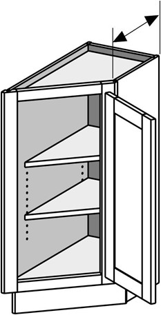Typical Base End Angle Right Cabinet