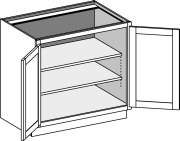 Typical Full Height Cabinet w/butt doors