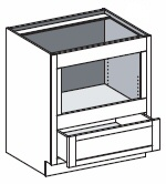 Typical Base Built In Under Counter Microwave Cabinet