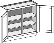 Typical Base Wall Depth Cabinet w/center stile