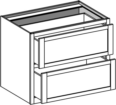 Typical Home Office Drawer Base w/2 lateral file drawers