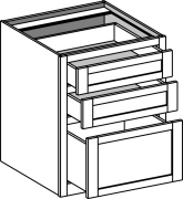 Typical Home Office Drawer Base w/3 drawers