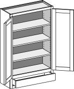 Typical Wall Cabinet with single drawer and w/butt doors