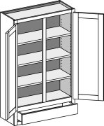 Typical Wall Cabinet with single drawer and w/center stile