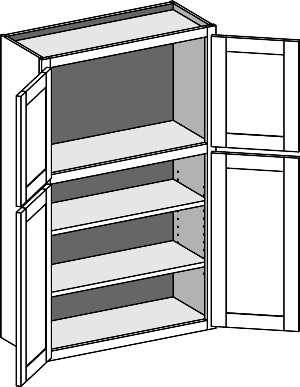 Typical Wall 2 Tiered unit with butt doors