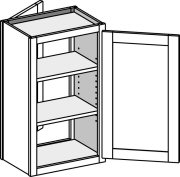 Typical Wall Cabinet w/double entry
