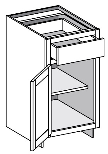 Construction standards assembled cabinet