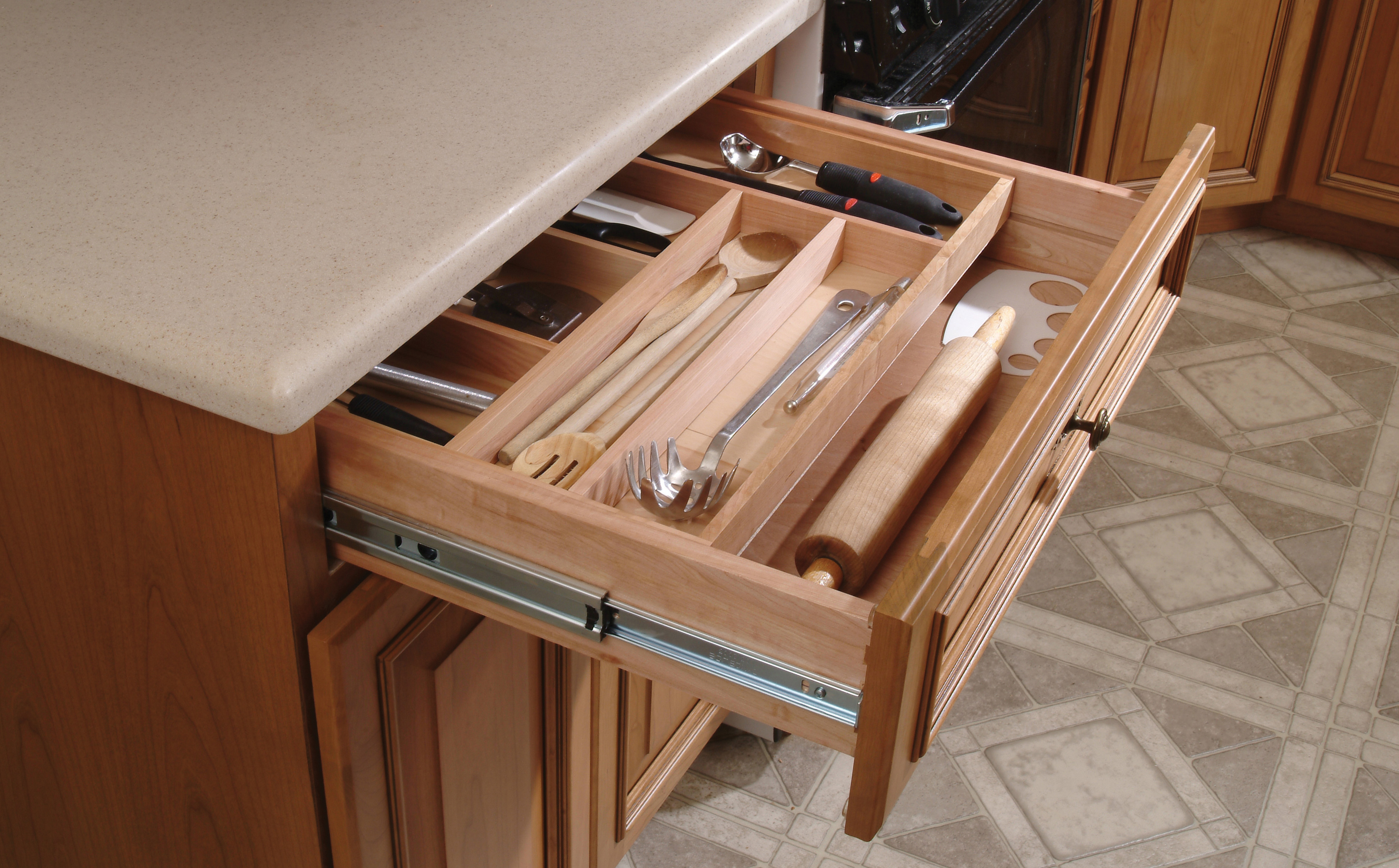 Custom wood drawer dividers custom drawer dividers for for Kitchen cupboard drawers