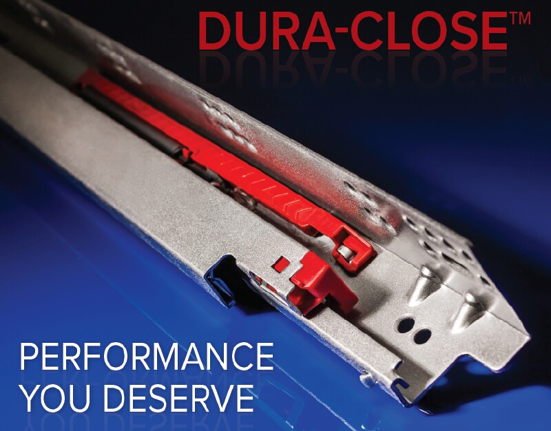 New Dura-Close concealed undermount soft-close drawer slide