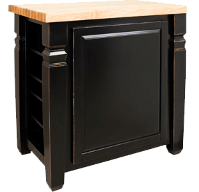 Lyn Design kitchen island ISL12-ABG reverse view