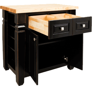 Lyn Design kitchen island ISL12-ABG front view