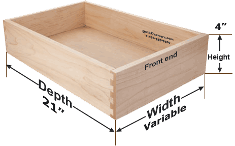 How to measure for Kraftmaid standard drawer replacement