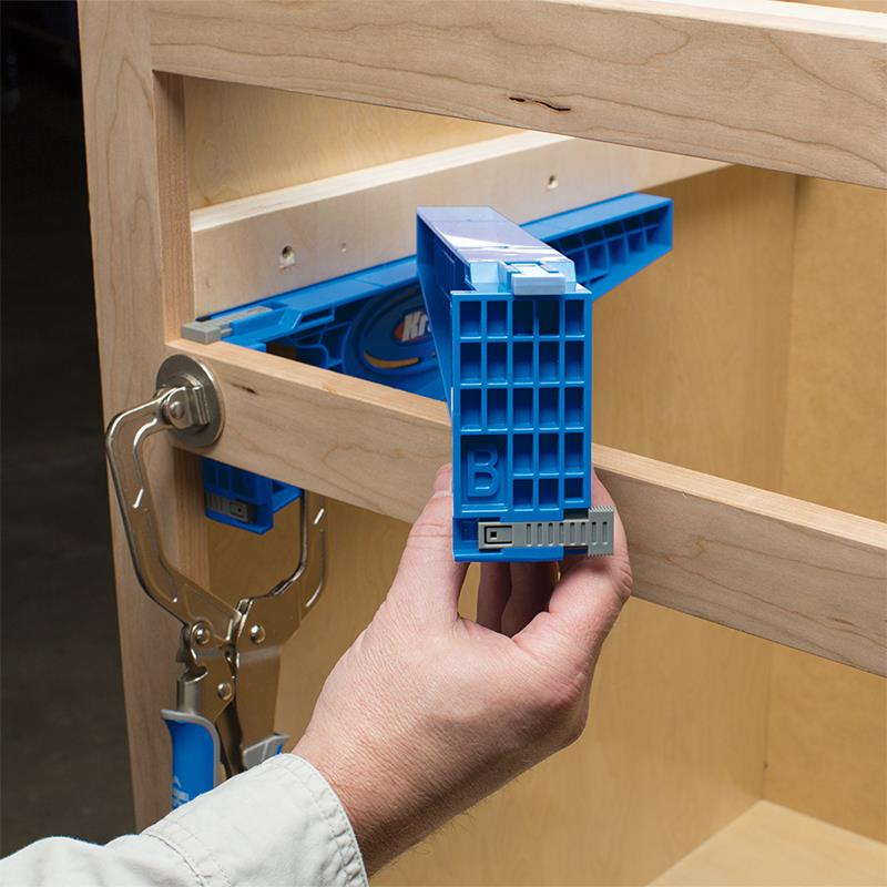 Use Kreg Drawer Jig to install cleat or buildout
