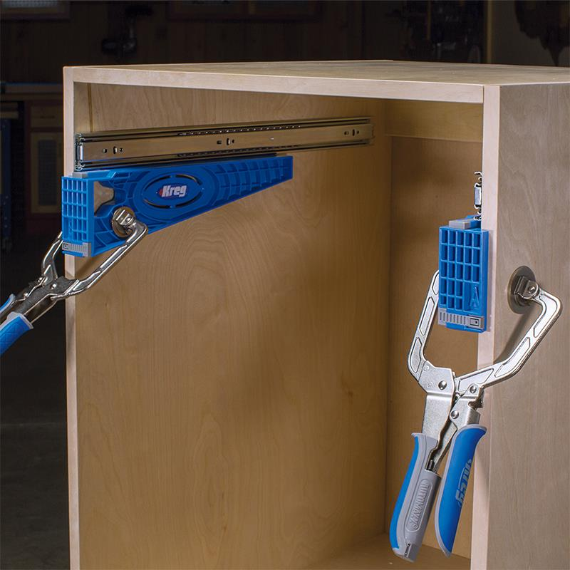 Use the Kreg Drawer jig for frameless casework