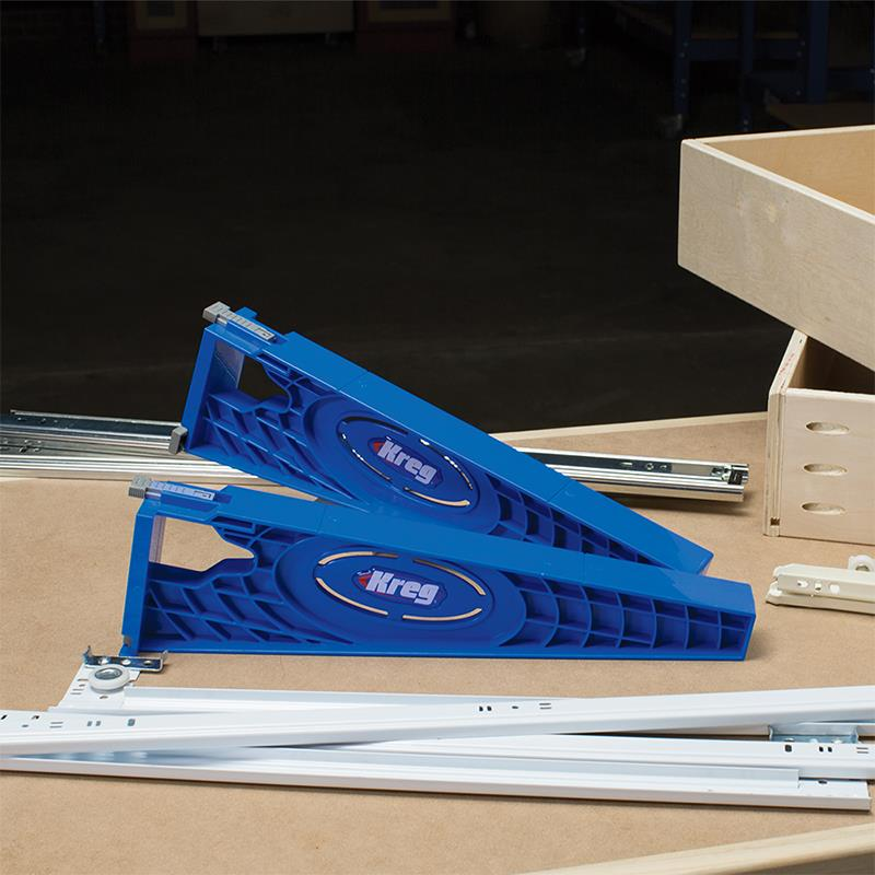 Use Kreg Drawer Jig can be used for any side mount slide
