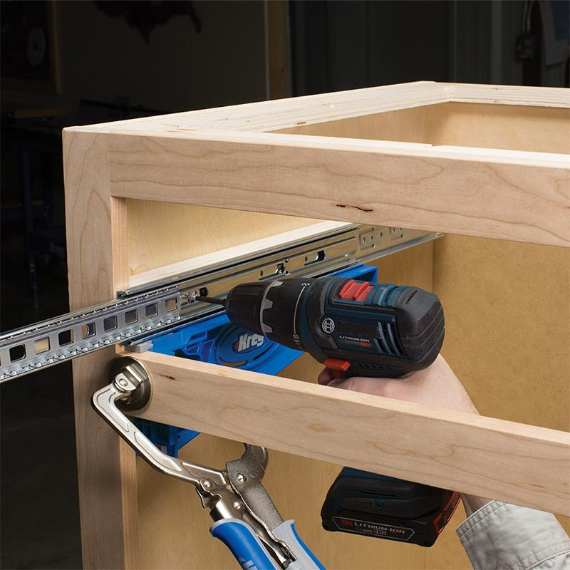Use the Kreg Drawer Jig for face frame cabinets