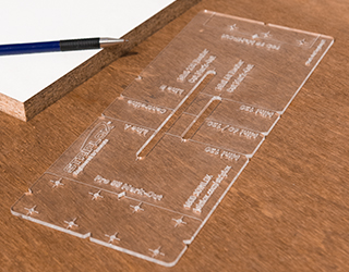Use the mark out template for accurate installation