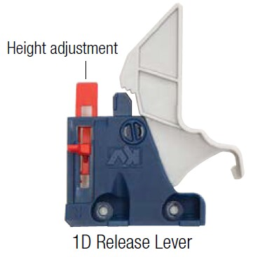 1 dimensional adjustment lever