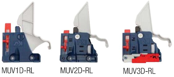 Release levers allow for adjustments in 1, 2 or 3 dimensions
