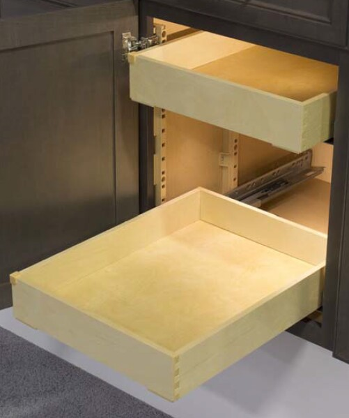 drawer kits for kitchen cabinets quiktray two drawer kits for 18 cabinet quiktray two 15055