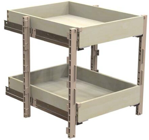 "QuikTRAY 2 Drawer Kit for 15"" Cabinets"
