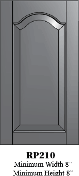 RP210 Cathedral Arch Raised Panel Door