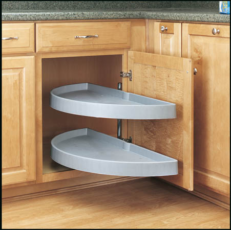 Half Moon Pivot Slide Out For Blind Corners Rev A Shelf