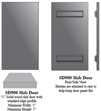 SD900 Solid Wood Panel Door