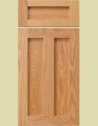 shaker style stained cabinet doors